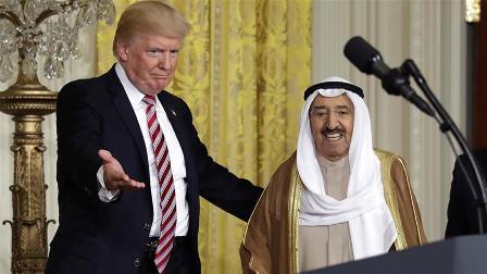 Президент США Дональд Трамп и эмир Кувейта Сабах аль-Ахмед аль-Джабер аль-Сабах
