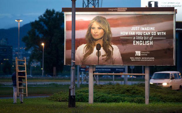 إعلان عن تعلُم الإنكليزية يغضب ميلانيا ترامب