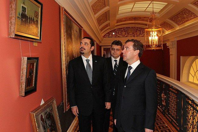 Саад Харири с Дмитрием Медведевым в Горках (2010)