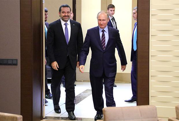 Саад Харири и Владимир Путин