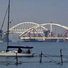 Автодорожную арку моста в Крым вывели в фарватер Керчь-Еникальского канала