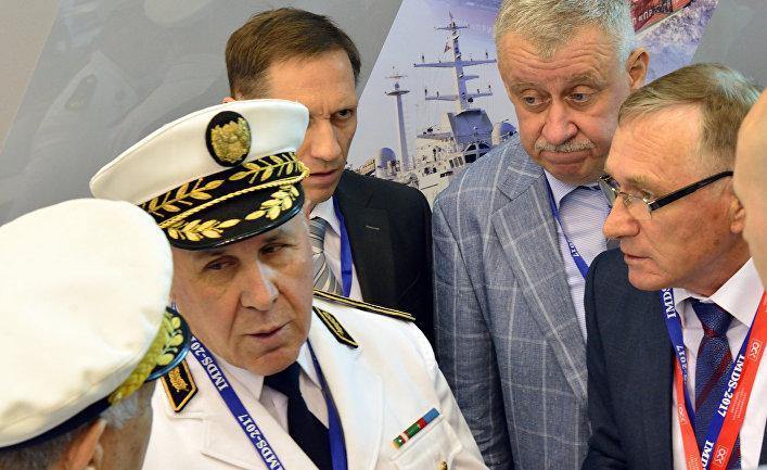 Делегация Алжира на международном военно-морском салоне в Санкт-Петербурге 2017