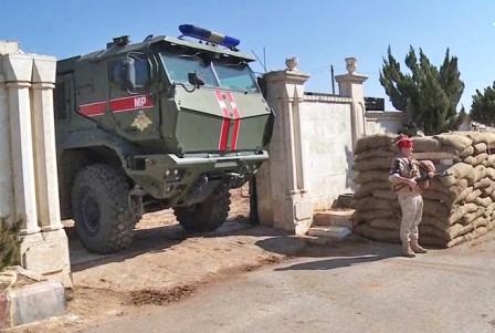 Наблюдательный пост военной полиции ВС РФ в районе Тель-Рифаата