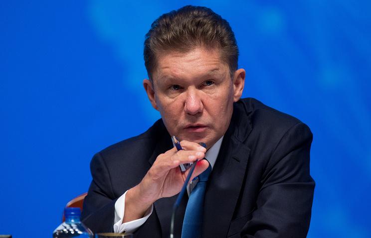 Миллер ожидает роста добычи «Газпрома» на 12% в 2017 году