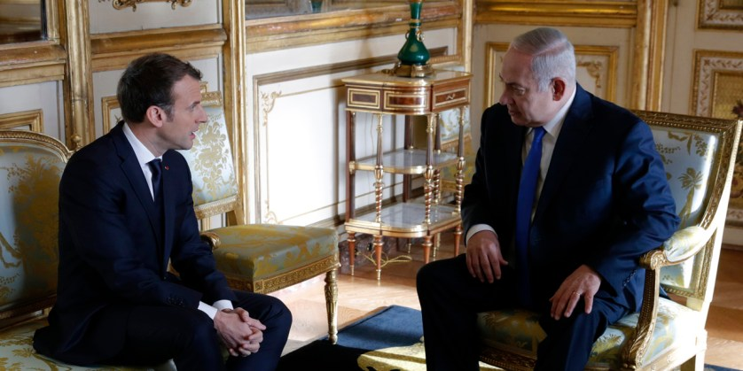 ماكرون يصدّ نتنياهو: نرفض قرار ترامب الاعتراف بالقدس عاصمة لإسرائيل