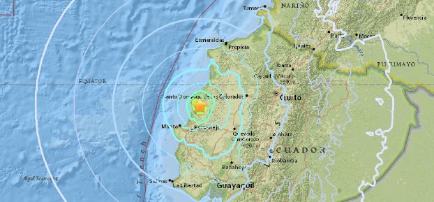 زلزال بقوة ست درجات يهز الإكوادور