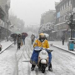 От снегопадов в Китае пострадали 3,4 млн человек