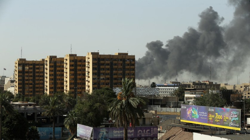 Ballot box blaze: Baghdad's largest voting warehouse goes up in flames (PHOTOS)