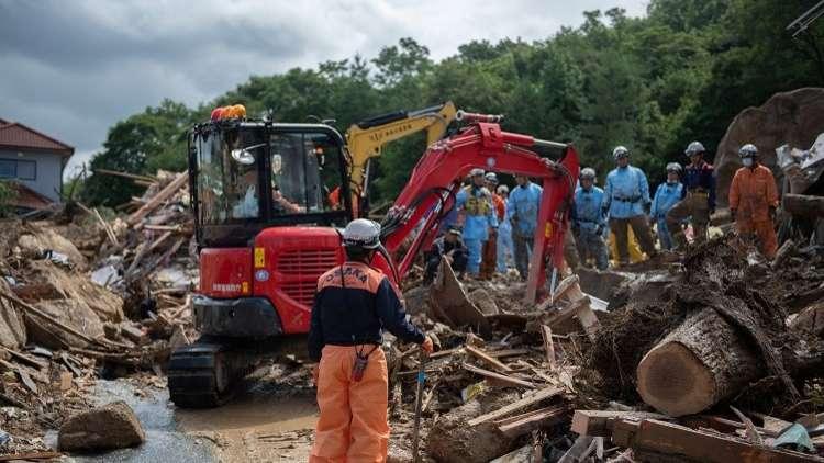 اليابان.. حصيلة ضحايا الأمطارتتجاوز الـ100 شخص