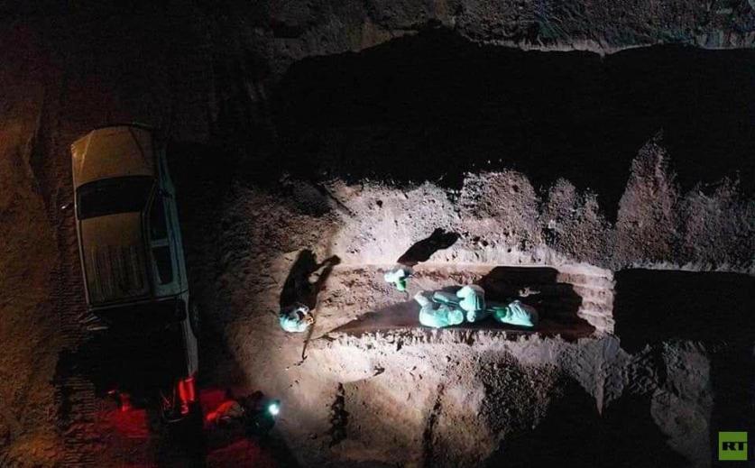"""العراق.. مقبرة """"وادي السلام"""" الخاصة بضحايا كورونا"""