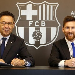 أول رد لرئيس برشلونة على إمكانية رحيل ميسي