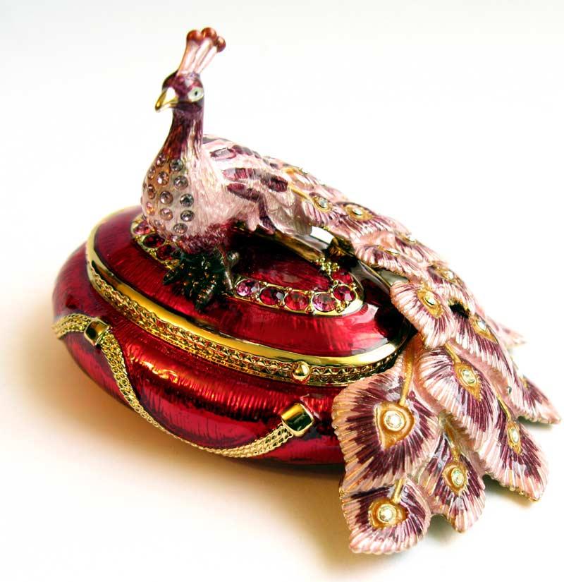 Jewelry Box Peacock Faberge Jewellery Faberge Box