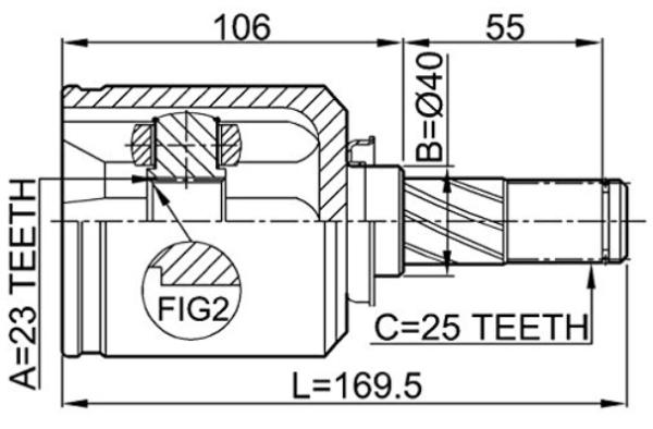 Соединение 397116Дж006 Кв Кв постоянной скорости ...