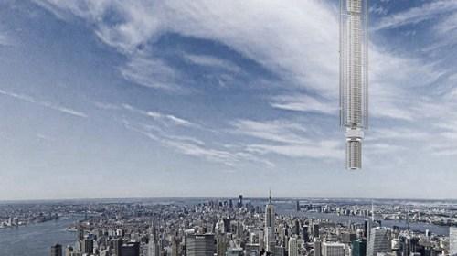 В США представили дизайн небоскреба, подвешенного к астероиду