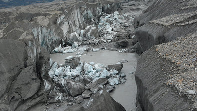 Отступающий ледник в Канаде погубил реку