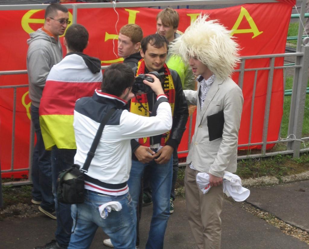 Alania fans mingling before kick-off