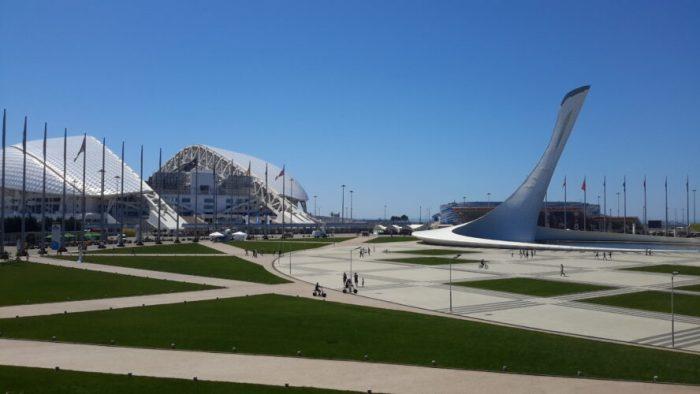 The outside of Sochi Stadium