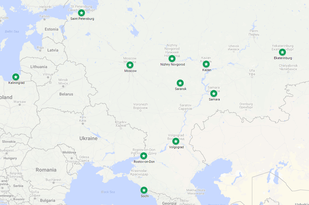 World Cup 2018 City Guide: Kazan - Russian Football News on tynda russia map, markovo russia map, irkutsk map, warsaw russia map, tatarstan russia map, vladivostok map, elista russia map, grozny russia map, serpukhov russia map, yaroslavl russia map, volsk russia map, moscow map, tula russia map, ufa russia map, samara russia map, novgorod russia map, astrakhan russia map, bashkiria russia map, crimea russia map, yurga russia map,