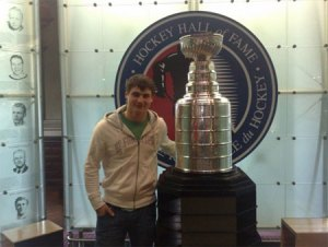 Dmitri Orlov poses with the Stanley Cup (Courtesy of the Russian Internets)