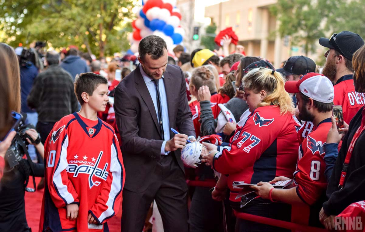 Connolly signs autographs for fans