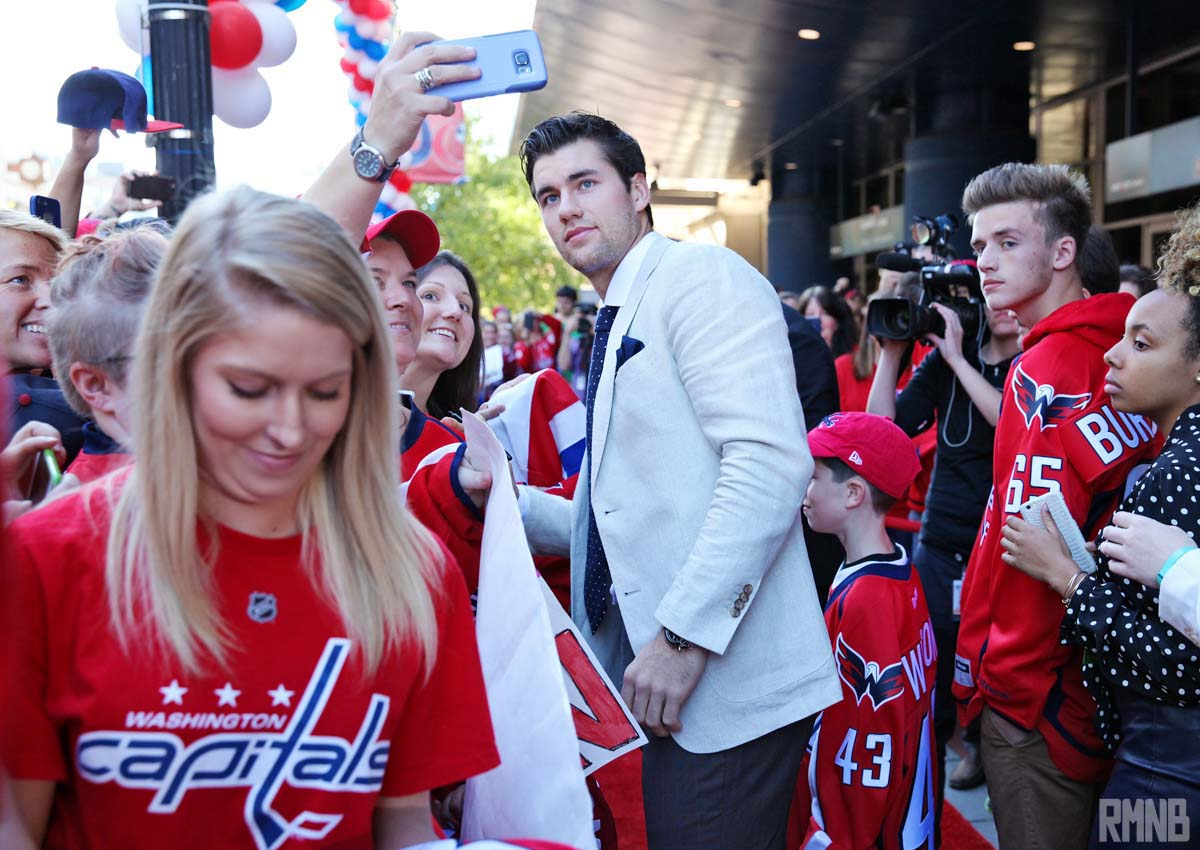 Tom Wilson looks down the red carpet