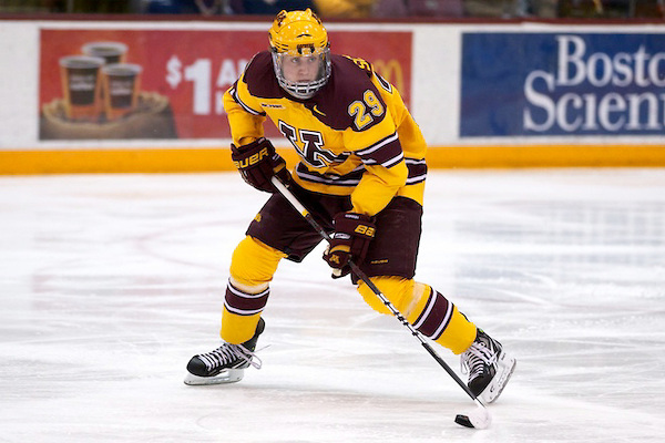 4b92bdcb4d8 Caps Sign University of Minnesota s Nate Schmidt