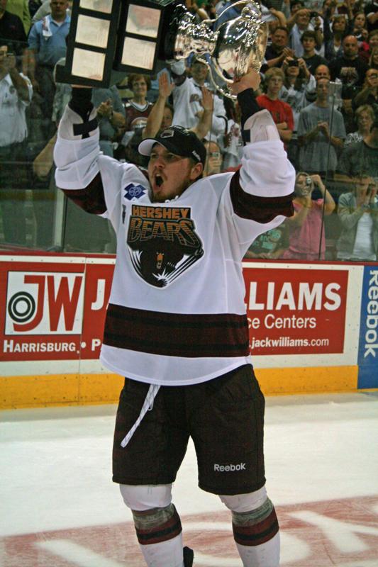 Chris Bourque Raises the 2010 Calder Cup