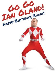 Ian Oland birthday card of the night. (Photo credit: Brouwer Rangers)