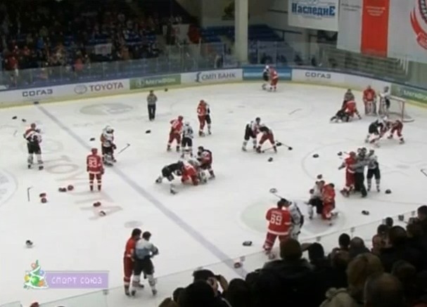 KHL-Vityaz-Chekhov-VS-Avangard-Omsk-691-Penalty-Minutes-January-2010