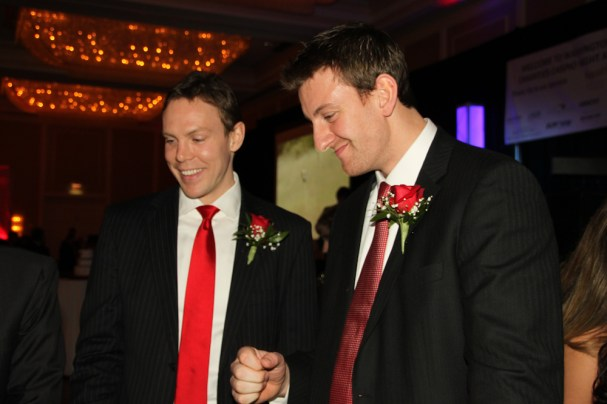 Jeff Schultz and Tyler Sloan at Caps Care Casino Night
