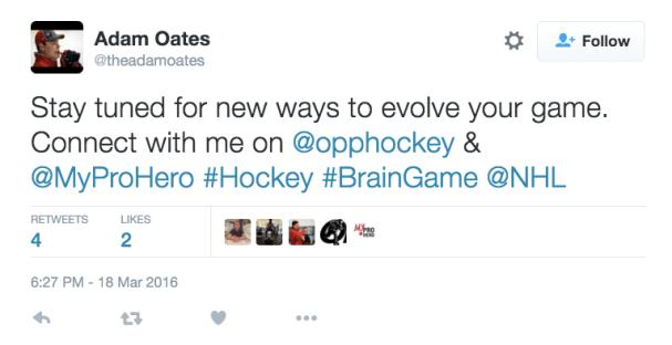 Adam Oates on Twitter