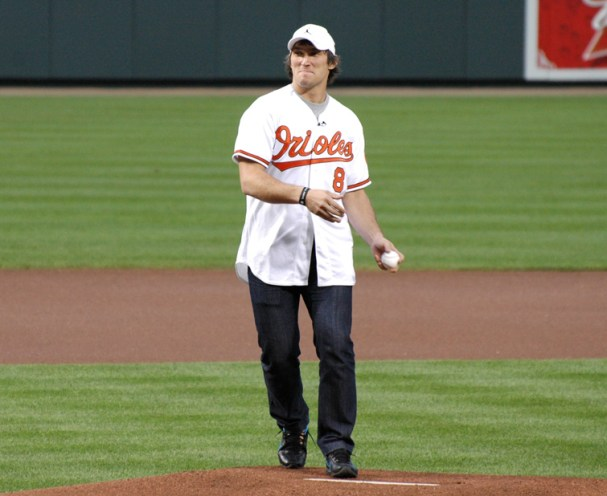Alex Ovechkin Orioles Ceremonial First Pitch