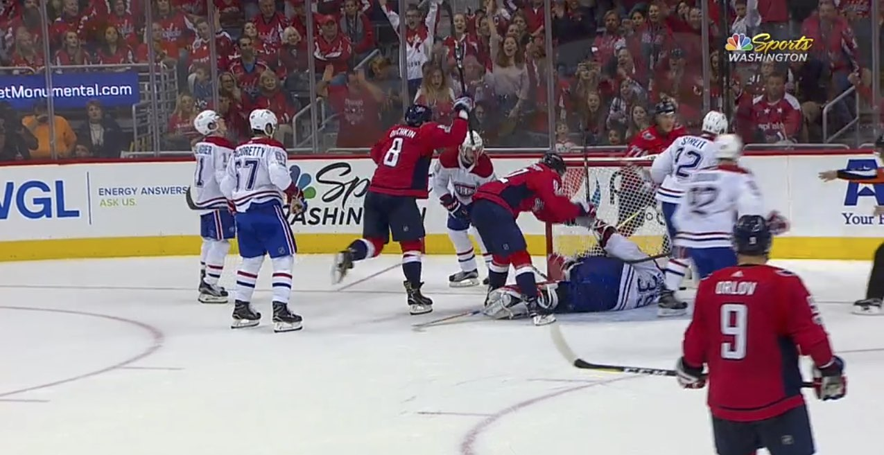 5be8b9666fe3b2 Did… did Alex Ovechkin just score his fourth goal of the game? Yes, yes he  did.