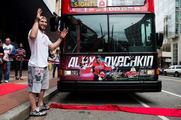Alex Ovechkin Bus Presentation