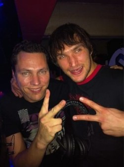 Ovi poses with DJ Tiesto at Club Fur