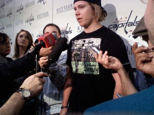 Nicklas Backstrom's favorite shirt: Your girlfriend loves wearing my jersey