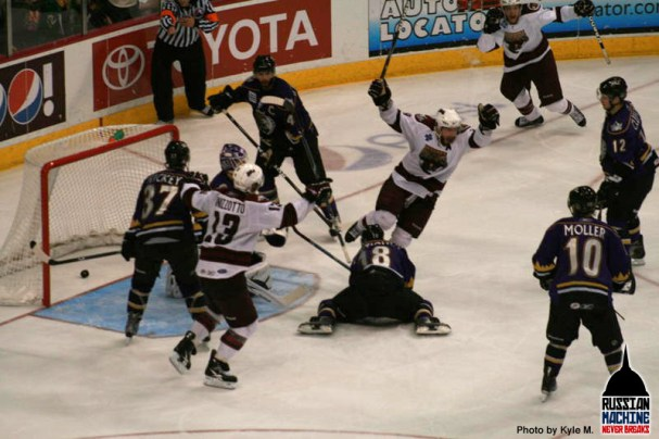 Boyd Kane scores the OT Game Winner and sends the Bears to the Calder Cup Finals for the fourth time in five years.