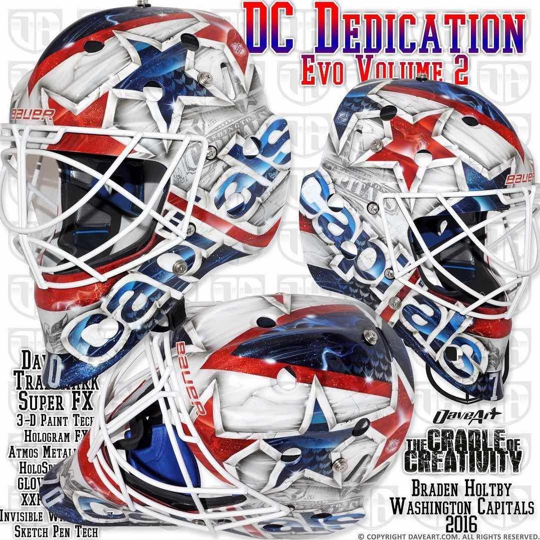 Braden Holtby S New Capitol Themed Mask Honors His Son Benjamin Rmnb