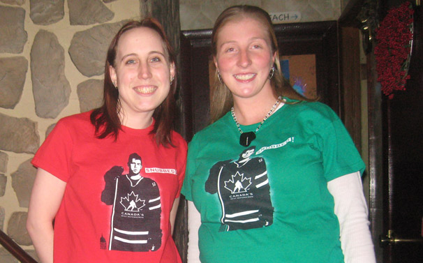 Elyssa Klopfenstein and Stacey Watkins in Our Mike Green Snubbed T-Shirts