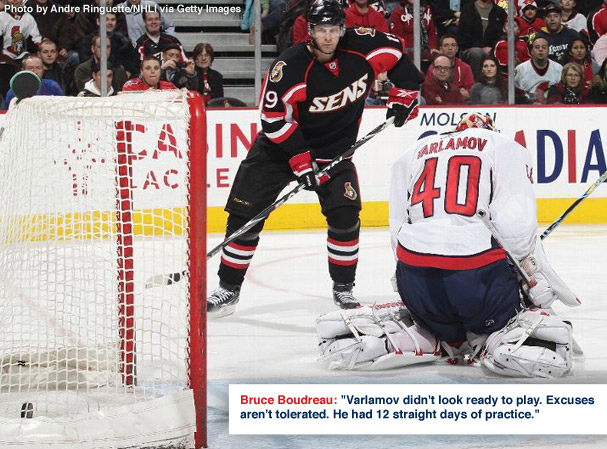 Varlamov does the opposite of shine in Caps 6-5 Loss