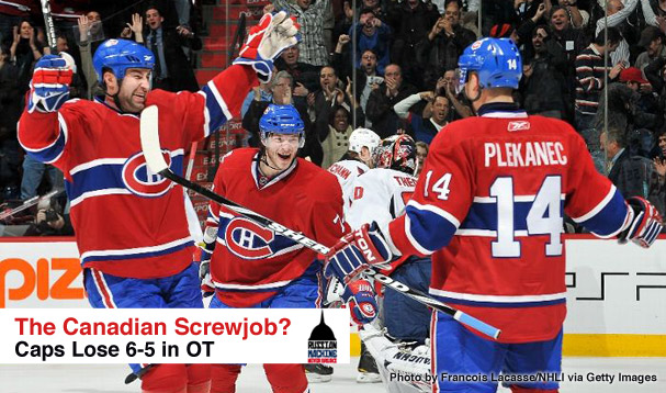 Caps Lose to the Canadiens 6-5 in Overtime?