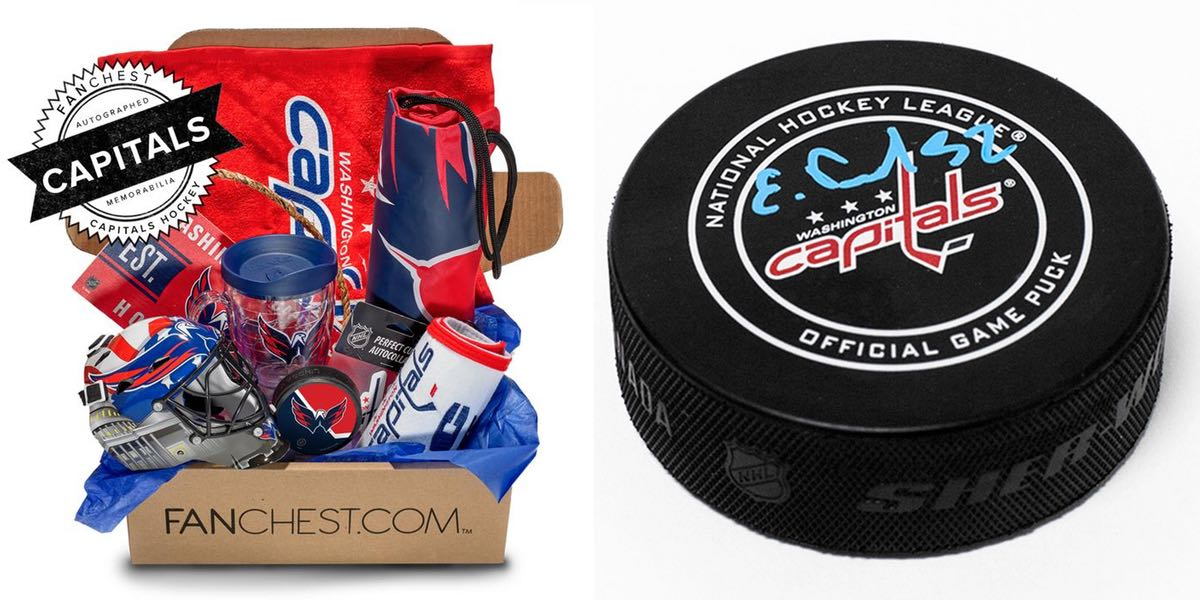 40bd448aa53 Taunt that Penguins fan in your life by buying them this Caps fan box. It  features a signed Evgeny Kuznetsov puck.