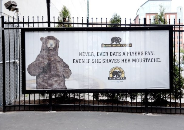 Never ever date a Flyers fan, even if she shaves her moustache.