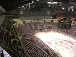 Giant Center is prepped for a raucous SOLD OUT crowd for Game 2.