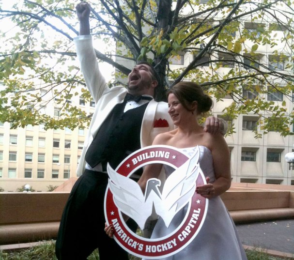William 'Goat' Stilwell weds Jill Hunt. Dude, awesome.