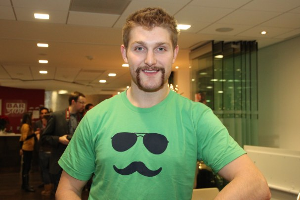 Karl Alzner shows off his 'stache.