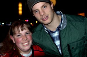 John Carlson poses with Jessica.
