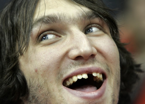 The hole where Alex Ovechkin's tooth used to be.
