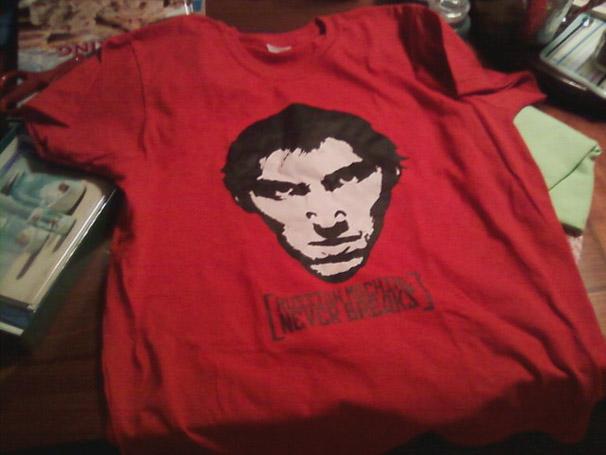 A Photo of Savannah Morrissey's Russian Machine T-Shirt