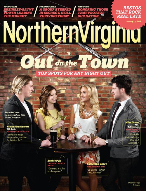 Samantha Casey, Mike Green & Nicklas Backstrom on the Cover of Northern Virginia Magazine